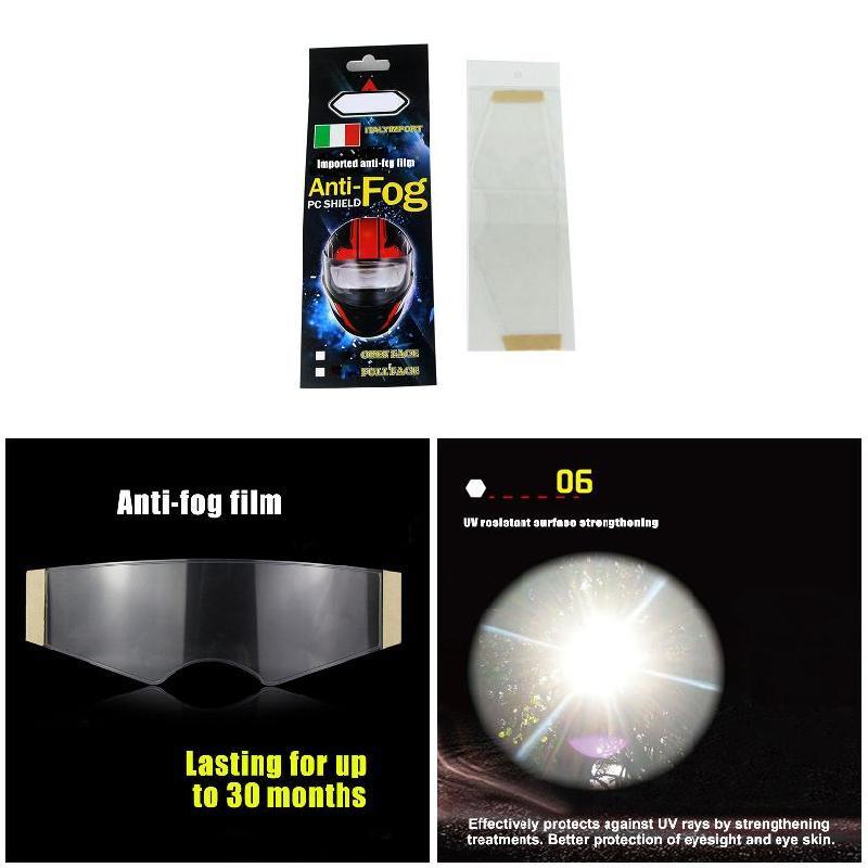 Insert /étanche Film universel pour visi/ère de casque transparent Film anti-bu/ée Film anti-bu/ée pour casque