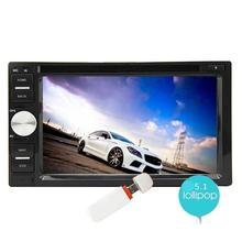 Android 5.1 Touch Screen Car Stereo Radio Receiver Double Din In Dash GPS Navigation DVD Player Bluetooth WiFi Mirror Link 3G/4G