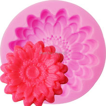 M626  Flower chrysanthemum sunflower Silicone Fondant Shop 3D Cake Mold Cupcake Jelly Candy Sugar Decoration Baking to 5.6*1.1cm