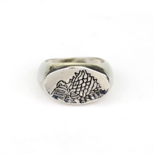 Classic TV Around Game of Thrones Ice of songs Jewelry Wolf Head Pattern Ring stainless Metal Finger Ring for Men Boys accessory