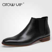 arow VIP Brand Genuine Leather Men Boots, New Arrive Leather Men Chelsea Boots, Fashion Designer Men Ankle Boots