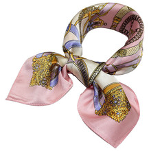 1 pc Silk scarf Professional decoration Wild little square Retro scarf Professional small square Chiffon printing scarves Bags