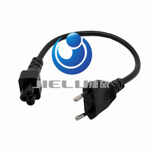 EU Power Adaptor Cord, European 2pin Male Plug to IEC 320 C5 Micky Adapter Cable For Notebook Power Supply,1 PCS