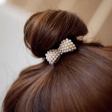 Trendy Women's headband Lovely Pearl diamond Bow hair ring Flowers Tousheng 1pcs
