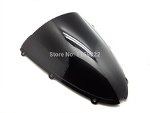 Smoke Double Bubble Abs Windscreen Windshield For 2006-2007 Kawasaki Ninja ZX10R