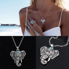 Newest  fashion jewelry accessories vintage silver plated Elephant necklace chain link necklace for couple lovers'  N099