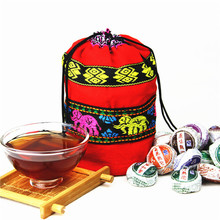 Hot Sell Different Flavors Chinese Yunnan Puer Pu er Tea Pu'er tea bag gift For Health Care Lose Weight Mini Tuocha(China)