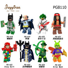 Joyyifor Super Hero Master Mini Action Figure Crazy Quilt Arrow Joker Chief Building Blocks Bricks Kids Toys(China)
