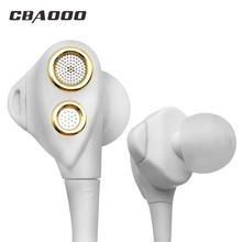 In-Ear Earphones HIFI Sport Stereo Bass Earbuds 4 Speakers Headset 3.5MM Wied Earphone for xiaomi iphone phone(China)