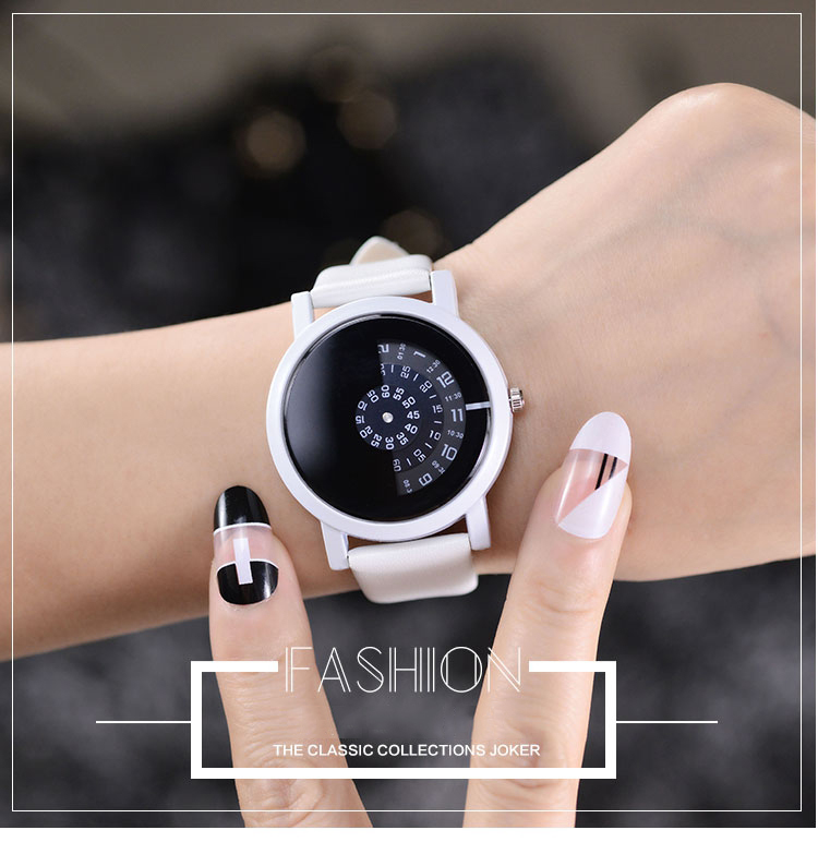17 BGG creative design wristwatch camera concept brief simple special digital discs hands fashion quartz watches for men women 12