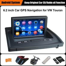 Upgraded Original Android Car multimedia Player Car GPS Navigation for Volkswagen VW Touran Support WiFi Bluetooth(China)