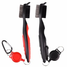 Golf Club Brush Golf Groove Cleaning Brush 2 Sided Golf Putter Wedge Ball Groove Cleaner Kit Cleaning Tool Gof Accessories(China)