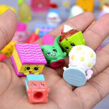 10pcs/lot Lovely Rubber Material Random Fruit Dolls of Season Figurines Kids Toys Shop Models Action Figures Fruit Store Puppets