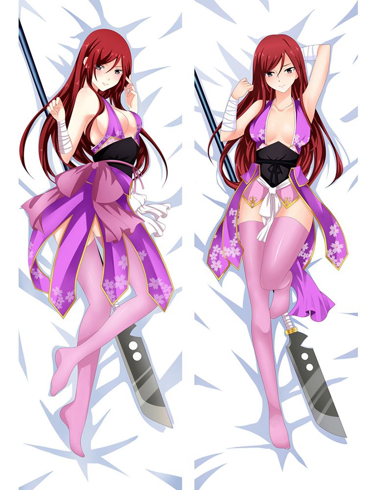 New Fairy Tail Erza Scarlet and Lucy Heartphilia Anime Dakimakura Pillow Cover
