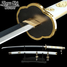 All handmade katana sword Sword Art Online Tsurumaru country forever COS props 1060 Carbon Steel Blade black Decorative Gifts(China)