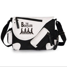 The Beatles Printed Shoulder Bag Women Canvas Casual Zipper Schoolbags Messenger Bag(China)