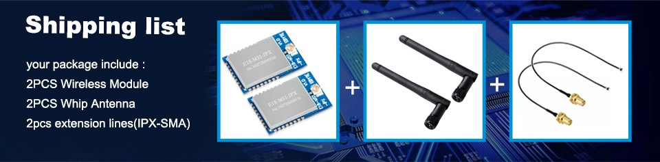 New 2pcs E18-MS1-IPX 2.4GHz CC2530 Wireless Zigbee Smart Home Automation Module  with antenna
