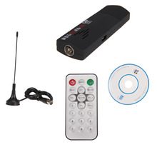 1 Set Digital TV Tuner USB 2.0 Dongle Stick TV SDR Receiver RTL2832U+R820T DVB-T SDR+DAB+FM High Quality