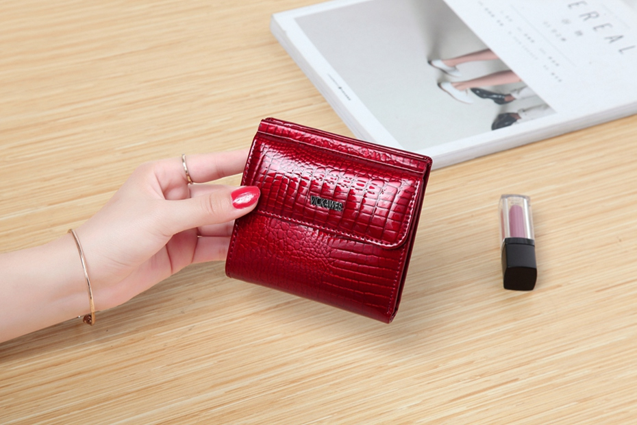VICKAWEB Mini Wallet Women Genuine Leather Wallets Fashion Alligator Hasp Short Wallet Female Small Woman Wallets And Purses-IMG_6461