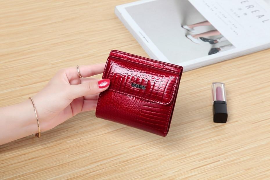 VICKAWEB Mini Wallet Women Genuine Leather Wallets Fashion Alligator Hasp Short Wallet Female Small Woman Wallets And Purses-IMG_6461