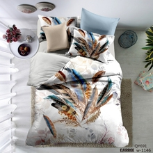 Lai Yin Sun 3D Duvet cover sets include Duvet cover Pillow cases 3D Bedding set Twin Queen 2 OR 3PCS YYX04 Colored feathers(China)