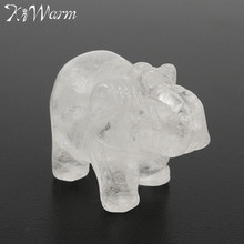 Cute White Crystal Elephant Figurines Paperweight Crafts Art Collection Souvenir Birthday Christmas Wedding Gifts Office Decor