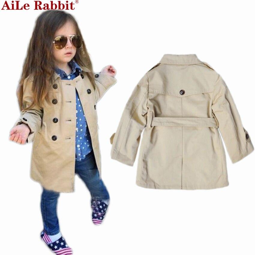 New Designer 2017 childrens Girls clothes autumn girls trench coat jacket children jacket coat<br>