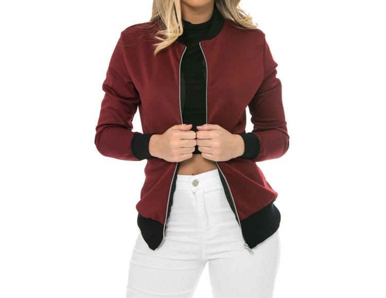 Hot Sprzedaż Jesień Tanie Ubrania Kobiet Małe Krótkie Kurtki Z Długim Rękawem Zipper Fly Outwear Kurtki Płaszcze Slim Cienkie Stylu topy Coat 6
