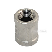 "MEGAIRON 1/2"" Female* Female Coupling F/F Stainless Steel SS304 Threaded Couple Pipe Fittings 33mm Length"