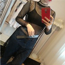 2017 Fashion Summer Female T-shirt Sexy Long Mesh Top Women Shirts Transparent Long Sleeve Black Fishnet T shirt White beach top
