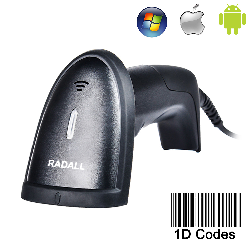 Handheld Laser Barcode Scanner Portable USB Wired 1D Cable Reader Bar Code for POS System Supermarket -RD-H1<br><br>Aliexpress