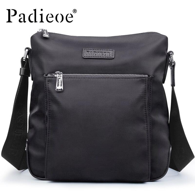 Padieoe Waterproof Mens Nylon Shoulder Bag Fashion Casual Male Crossbody Bag Ultra Light Nylon Messenger Bag Handbags<br>
