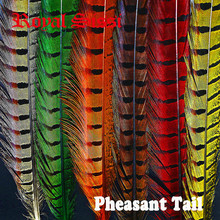 24pcs 6Colors Mixed Combo 40cm Pheasant Feather& Ringneck Pheasant Tail Fly Tying Material for Fly Fishing Bugs Lure Bait Making(China)