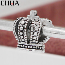 Free Shipping Sliver Bead Charm Lovely Pumpkin Shape Small Crown Beads Fit Pandora Bracelets & Bangles DIY Jewelry SPB131