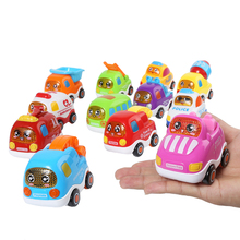 3Pcs/set Cartoon City Series Inertia Car Resistance To Fall Vehicle Education Toys Children Gifts For Children Under 6 Years Old(China)