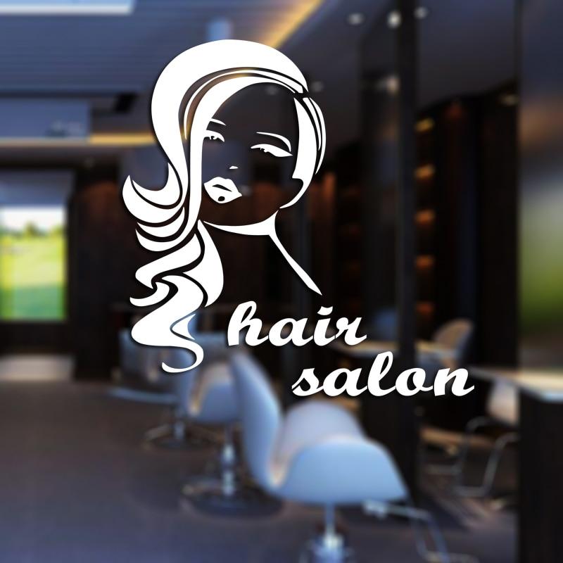 Hair Salon Sticker Beauty Scissors Decal Haircut Name Posters Vinyl Wall Art Decals Decor Decoration Mural Salon Sticker M0005