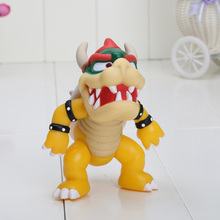 12cm Super Mario Koopa bowser pvc doll with red hat Figure Toy 5 inch Baby figures(China)