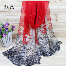 Hot Sale New 2016 Chiffon Silk Scarf For Women Fashion Scarves Female Winter Cachecol 40% silk, 60% polyester