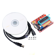 Free shipping 1PCS Mini System PIC Development Board + Microchip PIC16F877 PIC16F877A+ USB Cable