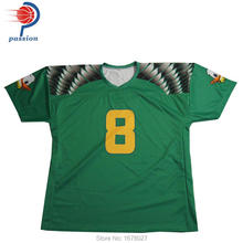 100%Polyester Custom Made Dark Green And Yellow American Football Tops For Men(China)