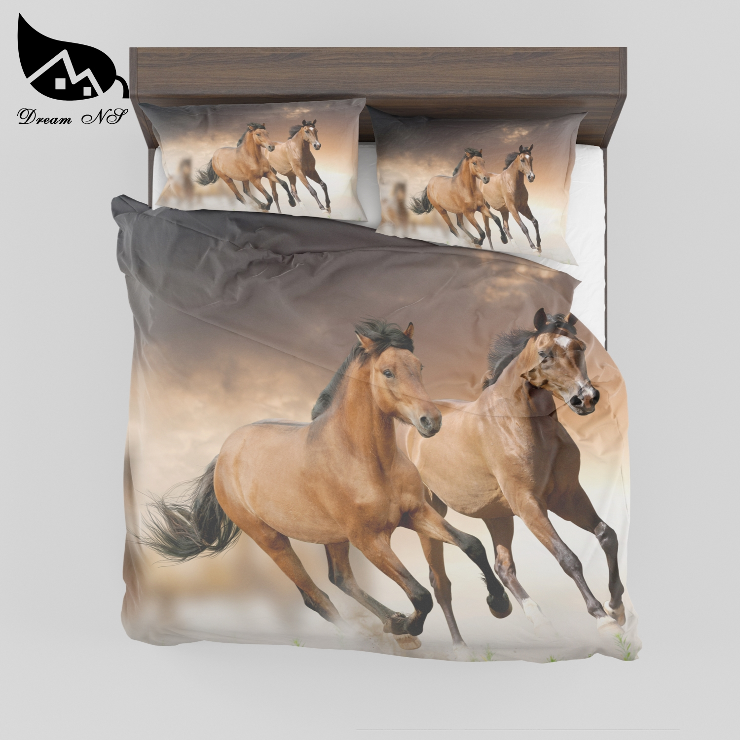 Dream NS Steed 3D effect prints King Queen Double Comfor Quilt Duvet Polyester cotton home textile products Bedclothes SMY017