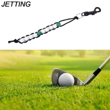 JETTING 1PC Counter Stroke Putt Scoring Chain with Clip Club Golf Accessories Golf Ball Beads Score