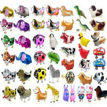 10pcs/lot Walking Pet Balloons Mix styles Various Animal Foil Balloons Birthday Party Decoration Toys Globos Balony