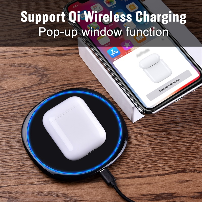 i60 TWS Pop Up 1 1 Air Wireless Bluetooth Earphone Separate Use QI Wireless Charging Bass Pods Earphones PK i30 i20 i12 i10 TWS