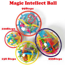 99-299 Steps 3D Magic Intellect Ball Marble Puzzle IQ Game perplexus magnetic balls IQ Balance toys Educational classic toys(China)
