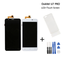 For Oukitel U7 PRO LCD Display+Touch Screen 100% Original Screen Digitizer For Oukitel U7 PRO Cell Phone+Tools+silicon Case
