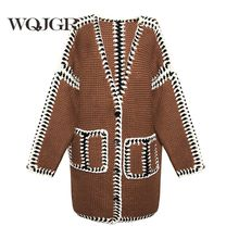 Cardigan Sweater Woman  Winter New Product Restore Ancient Ways Line Of Collision Sweater Loose Coat Woman Easy Fund
