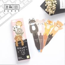 12 pack/lot The Pen of Animals Bookmark Paper Cartoon Animals Bookmark Promotional Gift Stationery(China)