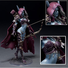 14cm WOW Action Figure Toys Sylvanas Windrunner Darkness Ranger Lady PVC WOW Figure For Collection Annie Brinquedos Model KA0444