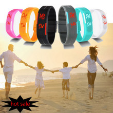 2016 Candy Color male female Watch Silicone LED kids Watches Date Bracelet Digital Sports Wristwatch for student